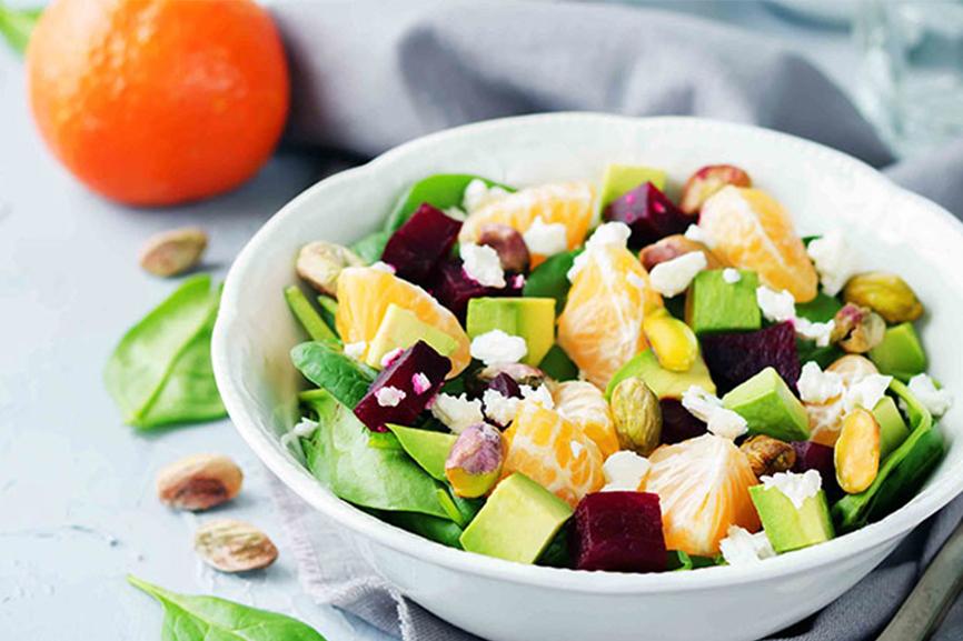 Ensalada-de-espinaca-mandarinas-y-pistachos