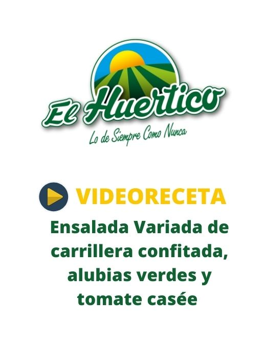 Videoreceta El Huertico Ensalada Variada de carrillera confitada