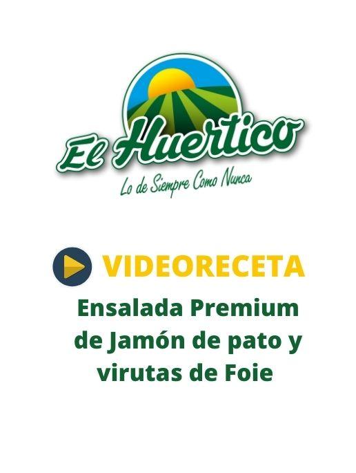 Videoreceta El Huertico Ensalada Premiium de jamón de pato, foie y vinagreta de hongos