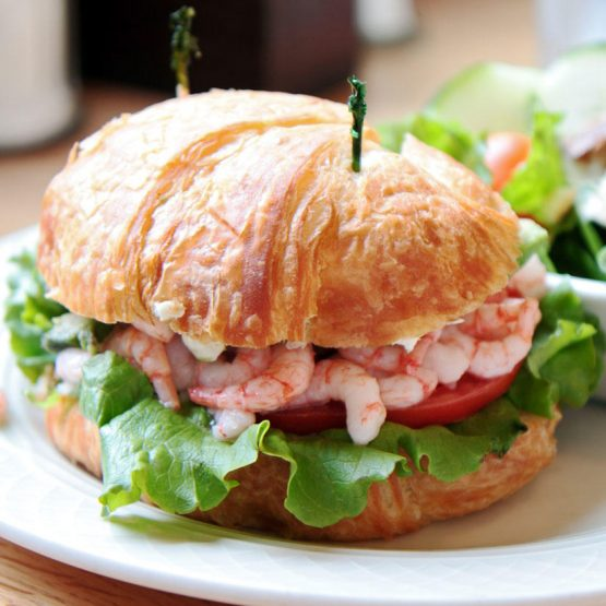 Receta El Huertico Croissant vegetal con gambas